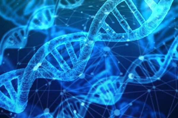 Niebieskie geny DNA