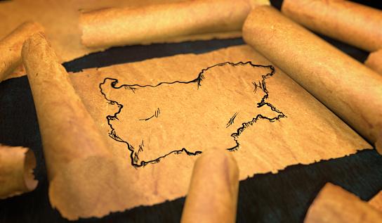 Autonomia Bułgarii na przykładzie historycznej mapy kraju